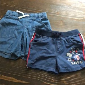 Lot of two girls shorts